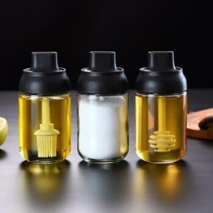 米良品多功能防潮盖勺一体调味罐3件套
