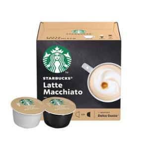 星巴克(Starbucks)咖啡胶囊拿铁玛奇朵咖啡129g(雀巢多趣酷思咖啡机适用)*2件90元(合45元/件)