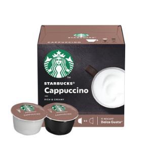 星巴克(Starbucks)咖啡胶囊卡布奇诺花式咖啡120g(雀巢多趣酷思咖啡机适用)*4件140元(合35元/件)