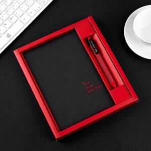 飞兹(fizz)商务手账本文具礼盒套装(112张A5办公日记本子/中性笔)合系列红色FZ335009*4件 55.4元(合13.85元/件)