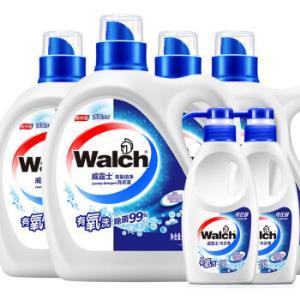 威露士双效有氧除菌洗衣液机洗手洗6件套(2kg+1kg*3+内衣净300g*2)69.9元
