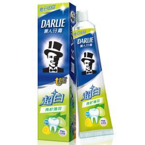 黑人(DARLIE)超白青柠薄荷牙膏140g*2件 16.8元(合8.4元/件)