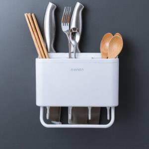 多功能筷子笼免打孔加刀具槽白色 29.9元(需用券)