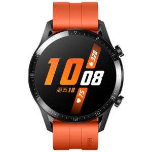 HUAWEI华为WATCHGT2智能手表运动版46mm赤霞橙 1488元包邮