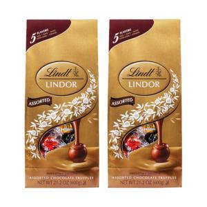 LINDT瑞士莲软心牛奶夹心巧克力球多口味混装600g/袋多规格可选2袋 179元