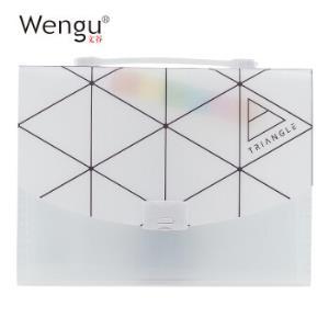 京东PLUS会员:Wengu文谷E2005CA手提风琴包文件夹13格*5件 39.75元(合7.95元/件)