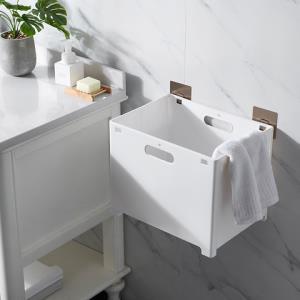 可折叠脏衣篮家用塑料壁挂免打孔浴室收缩篮子洗衣篮脏衣服收纳筐24.9元包邮(需用券)
