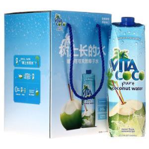 VitaCoco唯他可可椰子水饮料进口nfc青椰果汁1L*4瓶原味0脂肪*2件 158.5元(合79.25元/件)