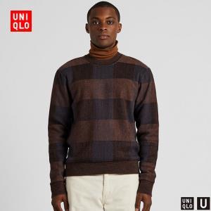 UNIQLO優衣庫421256男士格紋圓領針織衫 149元