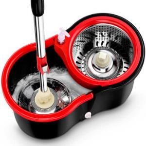 Vieruodis旋转拖把黑红色塑料篮+1棉头+加强杆29.5元(需用券)