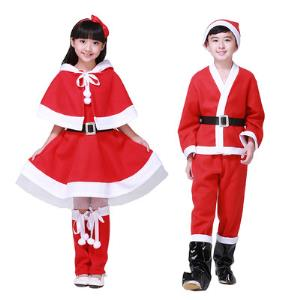 博歌圣诞老人服套装男/女100-170cm可选7元(需用券)
