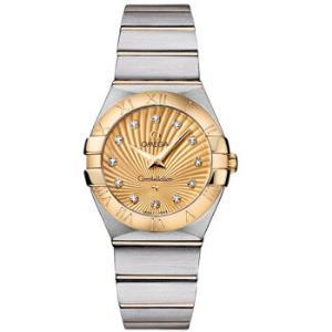 OMEGA欧米茄星座系列123.20.27.60.58.001女士石英手表27mm香槟盘间金表带不锈钢圆形    21999元(需用券)