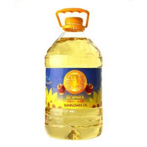 乌克兰进口食用油原瓶原装非转基因葵花油索菲亚金牌葵花籽油5L*2件111.84元(合55.92元/件)