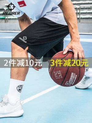 准者篮球裤五分裤子男士训练跑步宽松透气中裤休闲学生运动短裤*3件107.01元(合35.67元/件)