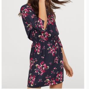 12日0点、双12预告:H&M0522918女士七分袖收腰衣裙 50元