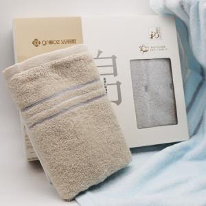 洁丽雅毛巾礼盒2条装纯棉面巾素色舒适柔软吸水毛巾72*34cm棕色+蓝色85g/条*4件 49.12元(合12.28元/件)