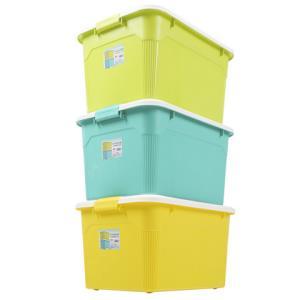 衣物收纳箱塑料特大家用储物箱有盖收纳盒整理箱清仓三件套大箱子 76元包邮