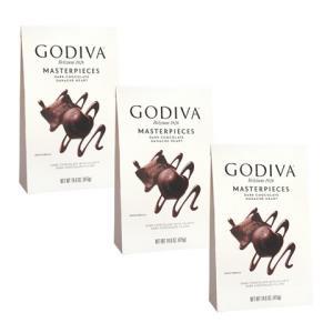 Godiva歌帝梵心形软心夹心丝滑黑巧克力415g/袋多规格可选3袋259元