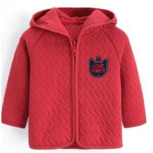 优贝宜儿童夹棉卫衣连帽外套70/80cm 34.95元