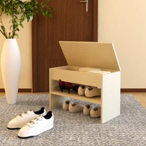 慧乐家鞋架泊雅特时尚翻盖换鞋凳储物收纳凳坐凳白枫木色11079*3件 178.5元(合59.5元/件)