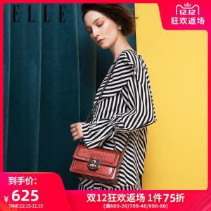 ELLE女包19年新品80719时尚精致五金链条包单肩斜挎手提小方包 624.25元