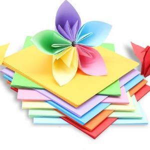 折纸纸正方形硬卡纸大张彩色厚手工a4彩纸学生幼儿园儿童手工纸制作材料千纸鹤爱心折纸剪纸书专用贺卡纸叠纸2.9元