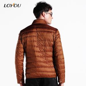 LOYOU秋冬男士白鸭绒短款青年羽绒服外套修身男装潮 99元(需用券)