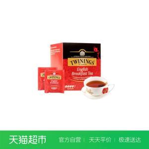 Twinings川宁英国进口红茶包阿萨姆茶叶英式早餐红茶10片袋泡茶*2件    29元(合14.5元/件)
