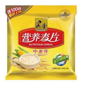 黑牛中老年营养麦片600g/袋谷物冲饮*2件