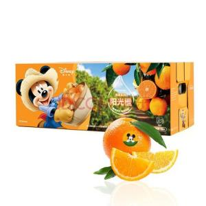 迪士尼米奇系列赣南脐橙阳光橙子5kg装铂金果新鲜水果礼盒*3件