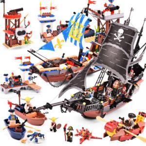 COODY古迪海盗主题系列加勒比海黑珍珠号全套套装652个小颗粒*3件 541.8元(合180.6元/件)