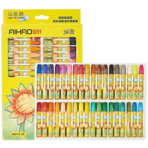 AIHAO爱好6801536色油画棒送勾线笔+画图本 7.6元包邮(需用券)