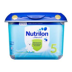 欧洲原装进口诺优能荷兰版荷兰牛栏儿童配方奶粉5段800g安心罐130元