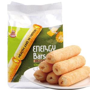 越南进口河马莉能量棒米卷儿童休闲零食膨化饼干糕点糙米饼奶酪味能量棒160g*9件59.1元(合6.57元/件)