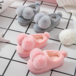 儿童棉拖鞋女可爱冬天保暖新款包跟卡通室内防滑冬季男童宝宝棉鞋8.8元包邮(需用券)
