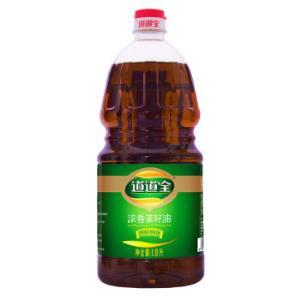 PLUS会员:道道全 食用油浓香菜籽油1.8L*5件 100.5元(合20.1元/件)