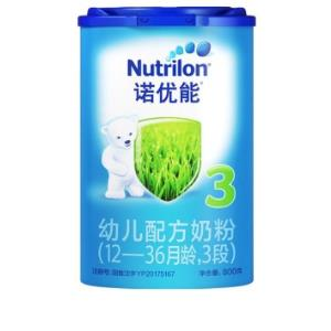 Nutrilon诺优能婴儿配方奶粉中文版3段800g117.5元