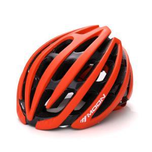 MOON公路山地自行车单车骑行头盔一体成型嵌入式骑行头盔山地车头盔男女款橙黑皇冠假日M(55-58CM)98元
