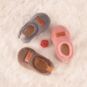 儿童棉拖鞋秋冬季男女宝宝室内家居鞋家用毛毛绒鞋包跟小孩棉鞋23.9元(需用券)