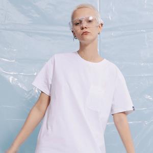 THETHING潮牌情侣基础T恤纯白色口袋打底半袖体恤光板夏装*4件256元(合64元/件)