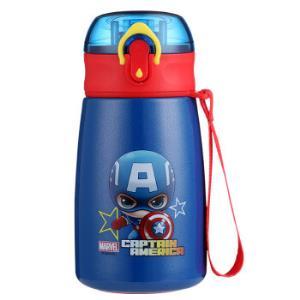 迪士尼(Disney)儿童保温杯带吸管316不锈钢男女宝宝学饮杯子幼儿园小学生便携水壶380MLHM3322A3美队蓝*3件 142.5元(合47.5元/件)