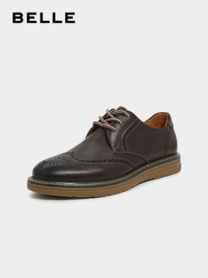 百丽男鞋工装鞋2019秋新商场同款油蜡牛皮革皮鞋休闲鞋B3HB2CM9499元