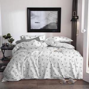 尚玛可家纺简约水洗四件套床上用品可爱床单被套闲暇时光1.8米床220*240cm179元