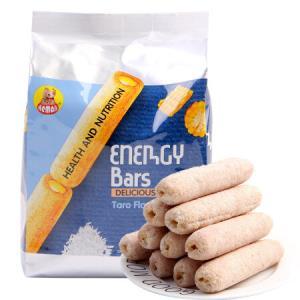越南进口河马莉能量棒米卷儿童休闲零食膨化饼干糕点香芋味能量棒160g*9件59.1元(合6.57元/件)