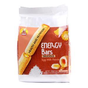 河马莉能量棒米卷儿童休闲零食膨化饼干糕点糙米饼蛋奶味能量棒160g*9件