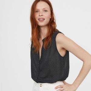 H&M0619258女士无袖衬衫 25元