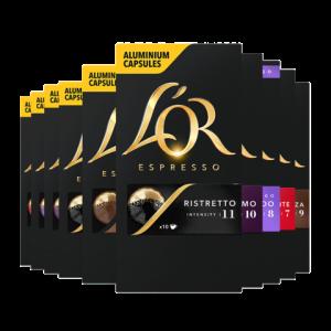 法国原装进口lor胶囊咖啡100粒适用Nespresso胶囊咖啡机300元(需用券)