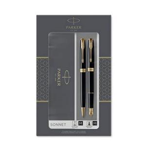 中亚Prime会员:PARKER派克Sonnet卓尔钢笔+圆珠笔纯黑丽雅金夹M尖 477.14元含税包邮
