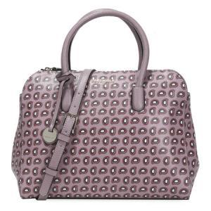 COCCINELLE可奇奈尔女士灰粉色牛皮印花手提单肩包E1BF61801019171840元