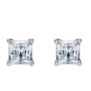 Swarovski施华洛世奇5509936银色方形单钻耳钉 299元包邮包税